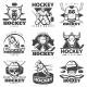 Vintage Hockey Labels Set