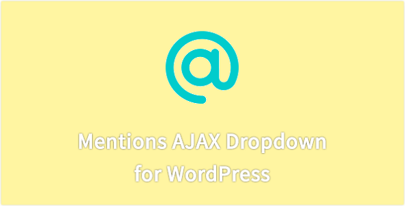 CodeCanyon Mentions AJAX Drop-down 19215280