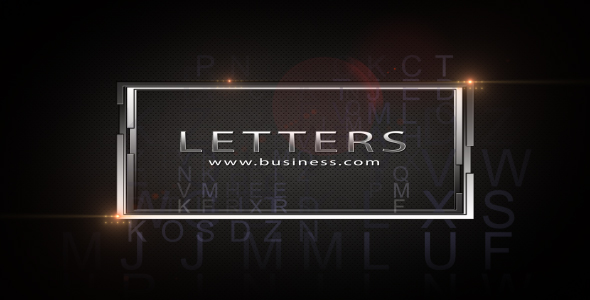 After Effects Project - VideoHive Letters 222240