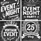 Chalk Event Flyers Set