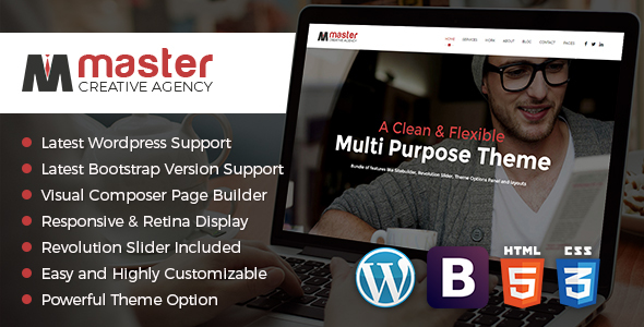 Master Creator - Minimal WordPress Theme