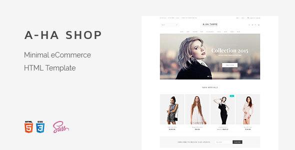 A-ha Shop   Minimal Elegant eCommerce HTML Template