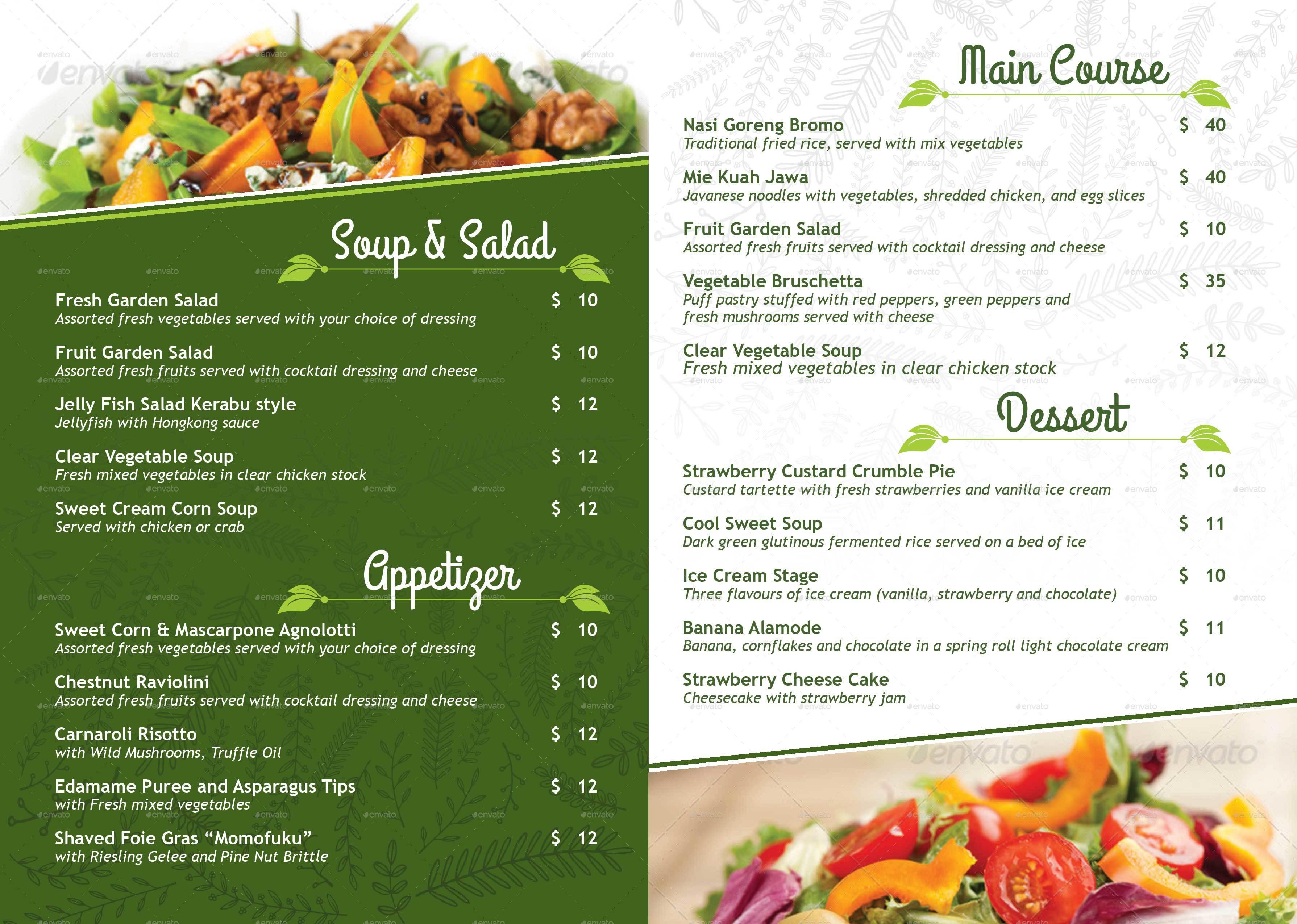 vegetarian restaurant menu  u0026 poster by royan