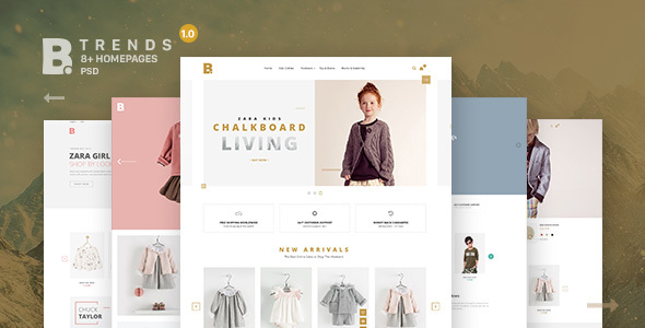 B – Trends Ecommerce Multipurpose PSD Template (Style)