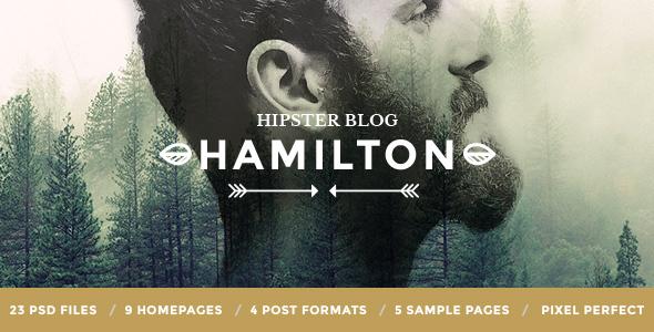 Hamilton - Hipster Blog PSD Template