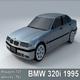 BMW 320i 1995 Lowpoly