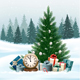 Holiday Background With A Christmas Tree Vector