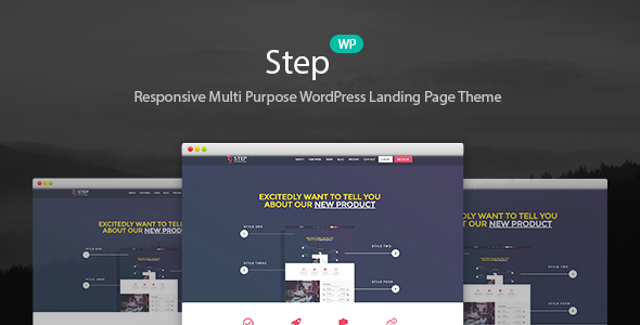 Download Step - Startup WordPress Landing Page Theme nulled download