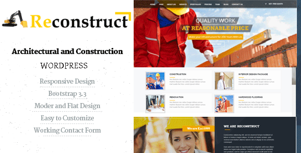 Image of Reconstruct- Construction and Builder WP Theme
