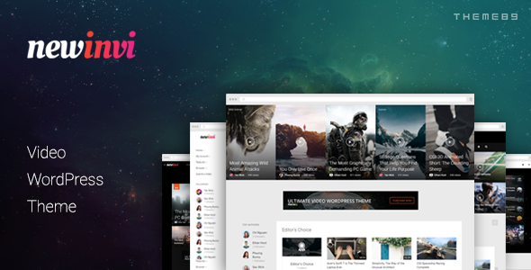 Download Newinvi - A Video Magazine WordPress Theme nulled download