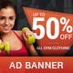 Active - Sport Sales PSD Banner Template