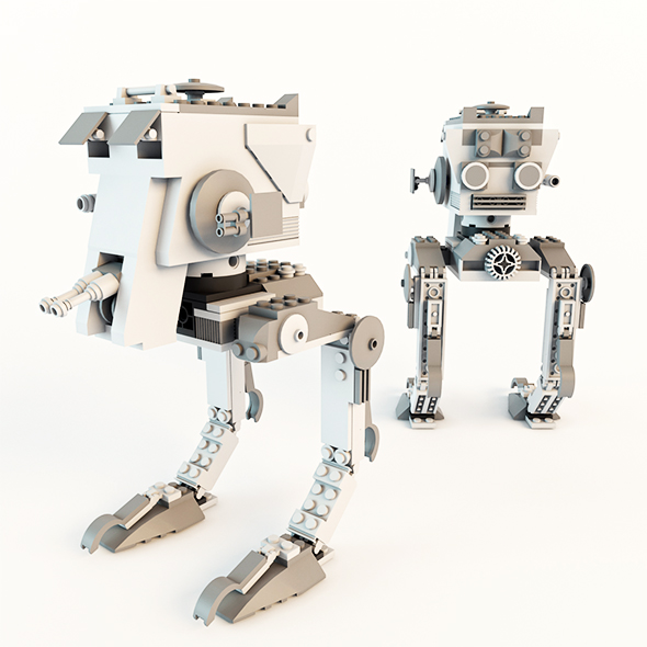 3DOcean Star Wars AT-ST Lego 19220387