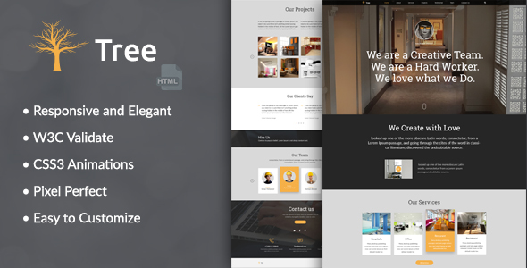 Tree - Interior Design, Architecture Business HTML Template