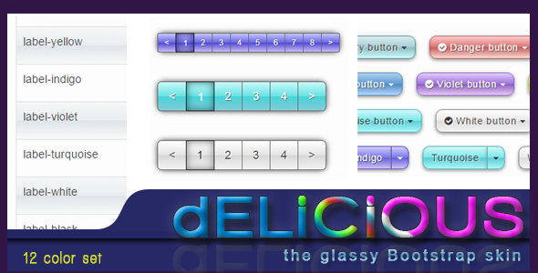 Delicious - the glassy gradient Bootstrap skin