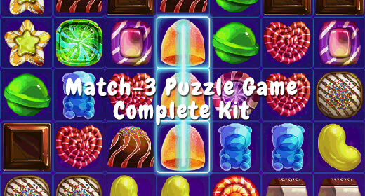 Match 3 Puzzle Game Complete Kit
