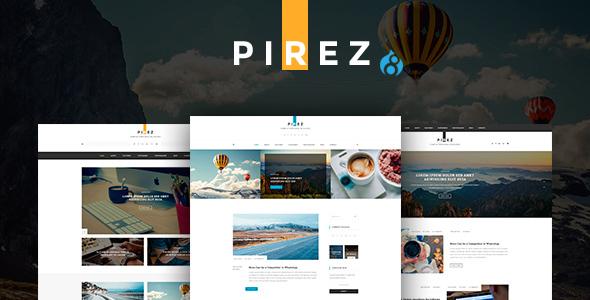 Image of PIREZ - Blogging Drupal 8 Theme