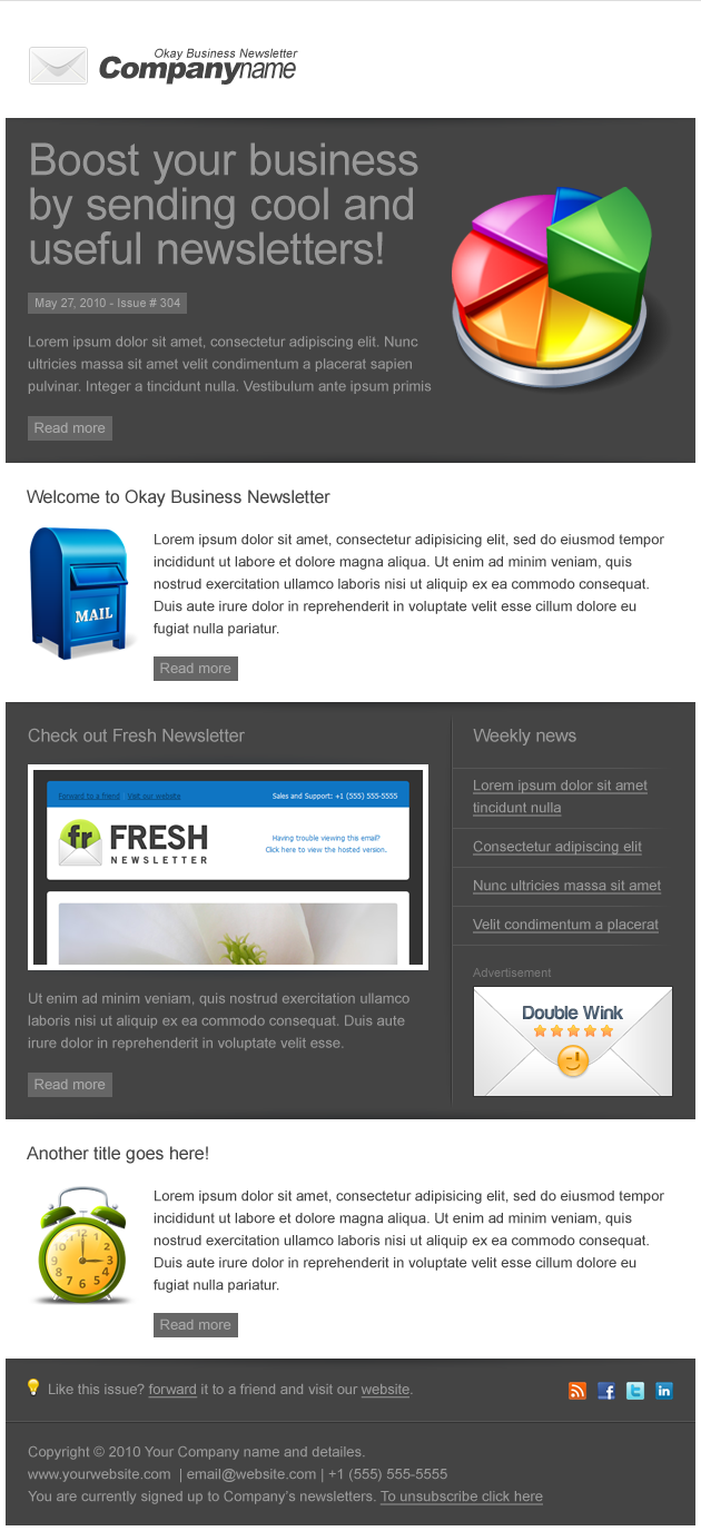 Okay Business - Multi Usage Newsletter