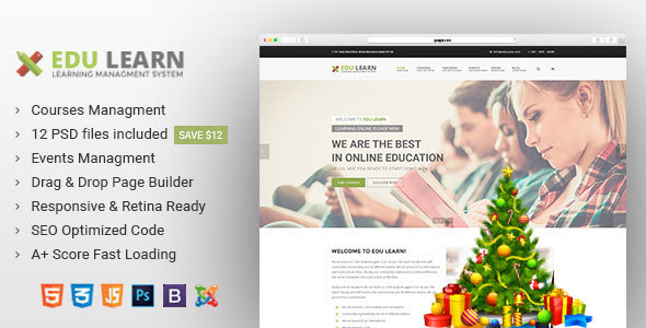 Download EduLearn - Education, School & Courses Joomla Template