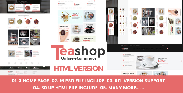 Teashop eCommerce HTML Template