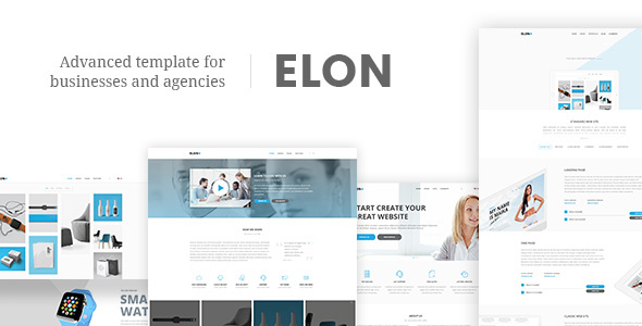 Elon - Businesses and agencies modular template
