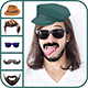 Man Hair Mustache Style Editor