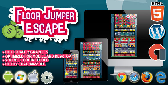 Download Floor Jumper Escape - HTML5 Construct 2 Skill Game nulled download