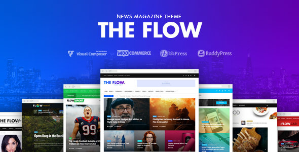 Download The Flow - News & Magazine WordPress Theme nulled download