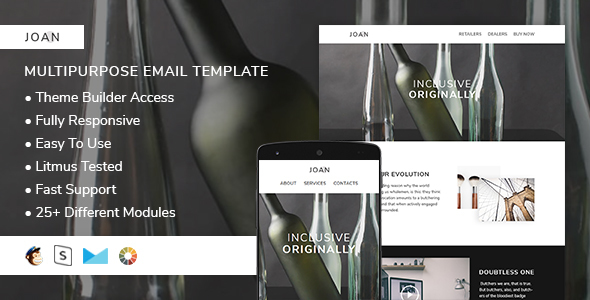 Download Joan – Responsive Email + StampReady Builder nulled download