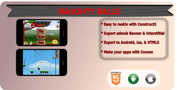 Naughty Balls HTML5 Game + Admob