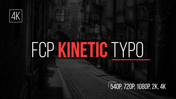 VideoHive FCP Kinetic Typo 19222654