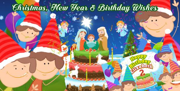 Christmas New Year & Happy Birthday Wishes