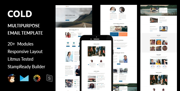 Download Cold - Multipurpose Responsive Email Template + Stampready Builder nulled download