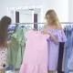 Three Beautiful Girls Fighting Over Dress in Shop