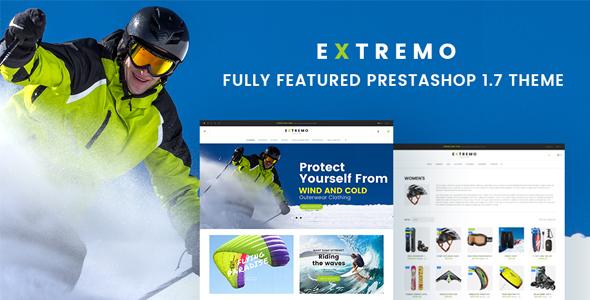 Extremo - Extreme Sports PrestaShop 1.7 Theme