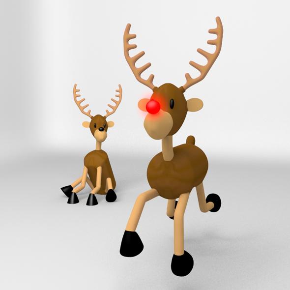 Reindeer - 3DOcean Item for Sale