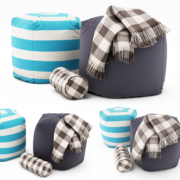 3DOcean Pouf collection 10 19223150