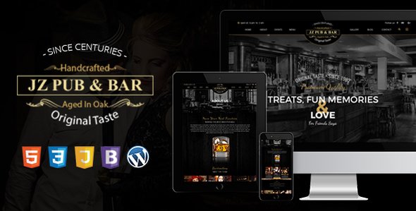 Jz Pub &amp Bar WordPress Theme (WordPress)