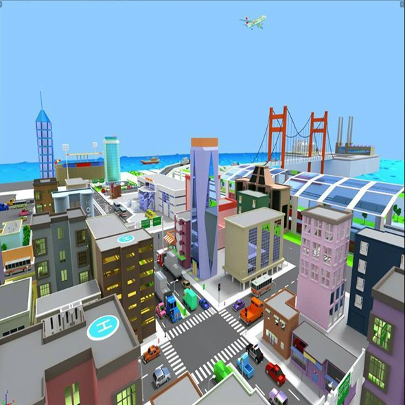 LOW POLY CITY CARTONS - 3DOcean Item for Sale