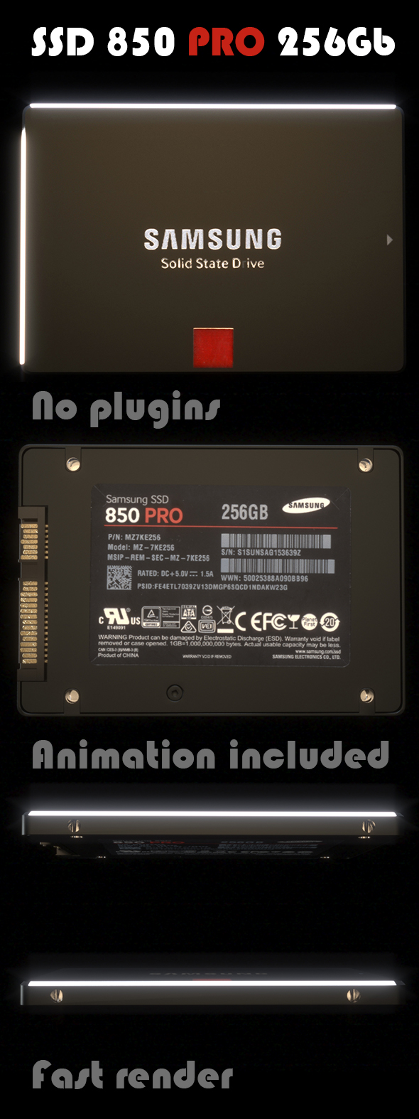 SSD 850 PRO - 3DOcean Item for Sale