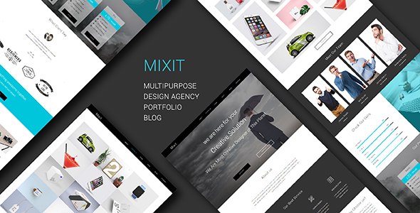 Mixit_Responsive Multipurpose One Page Muse Template
