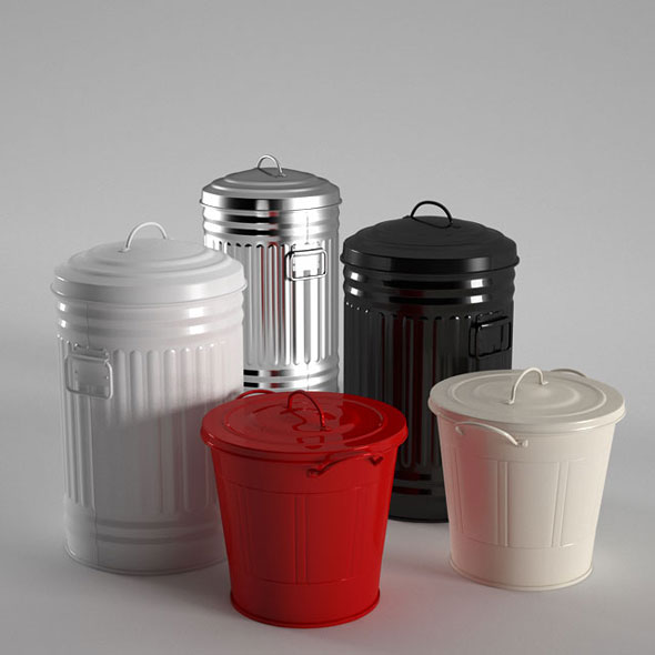 Habitat Alto Kitchen Bin - 3DOcean Item for Sale