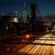 New York City Sunset From The Brooklyn Bridge