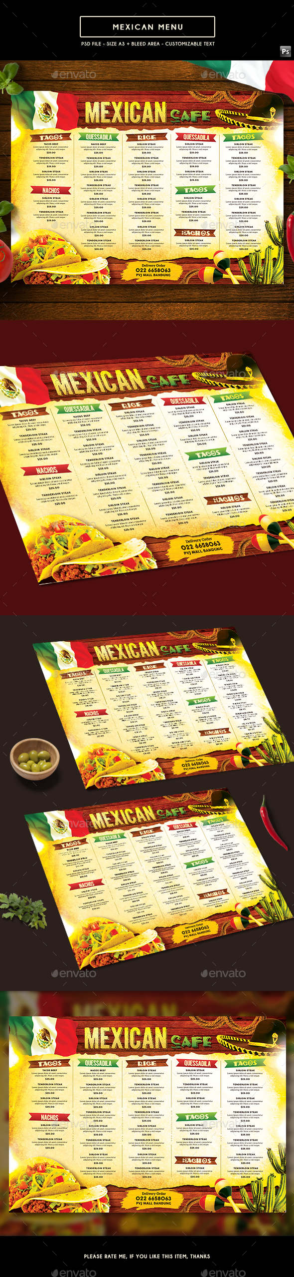 Mexican Menu