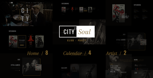 Download CitySoul Music WordPress Theme - Nightclub Party Bars Lounge nulled download