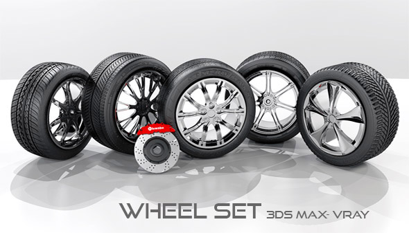 3DOcean 3D Wheel set 19225734