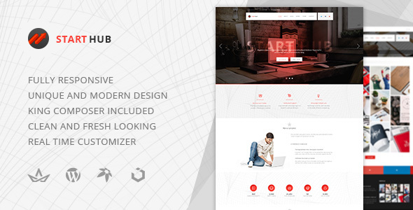 Download Start Hub — Clean Multipurpose Portfolio/Blog Responsive WordPress Theme nulled download