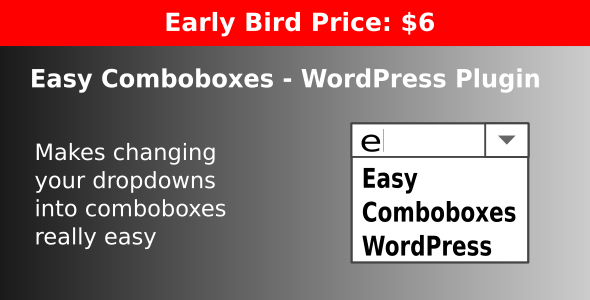 Easy Comboboxes - WordPress Plugin