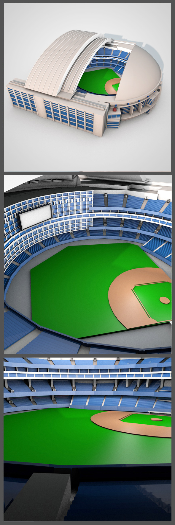 Rogers Centre in Toronto - 3DOcean Item for Sale