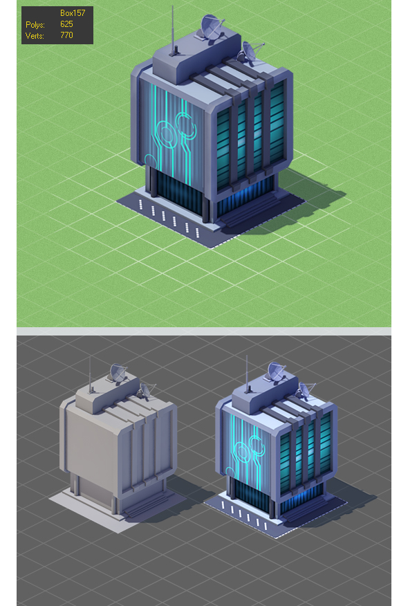 Hi_tech Low Poly - 3DOcean Item for Sale
