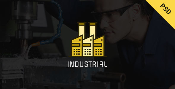 Industrial - Industry  & Business PSD  Template